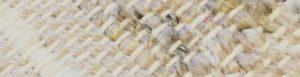 closeup weaving in natural cream, silver silk with brown flecks